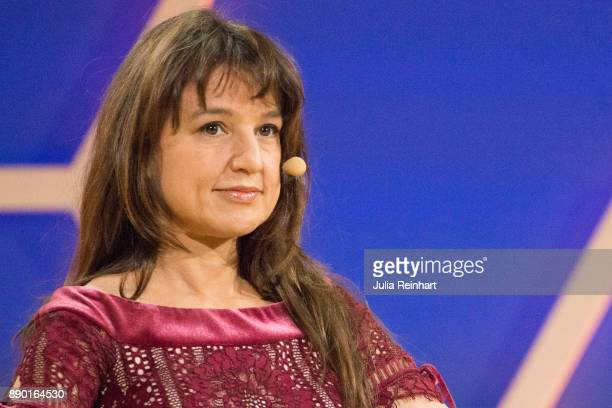 Zeynep Tufekci contributing writer to the New York Times speaks at 'Nobel Week Dialogue the Future of Truth' conference at at Svenska Massan on...