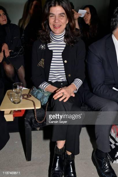 Zeynep Tunuslu attends the Ezra Tuba show during MercedesBenz Fashion Week Istanbul March 2019 at Zorlu Center on March 21 2019 in Istanbul Turkey