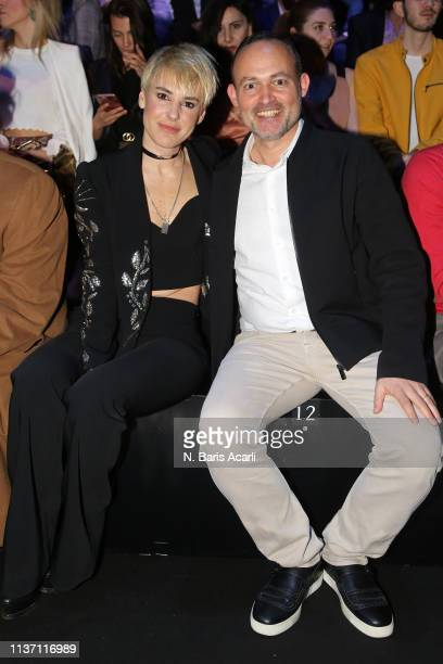 Zeynep Uner and Halim Tansug attend the Brand Who show during the MercedesBenz Fashion Week Istanbul March 2019 at Zorlu Center on March 20 2019 in...