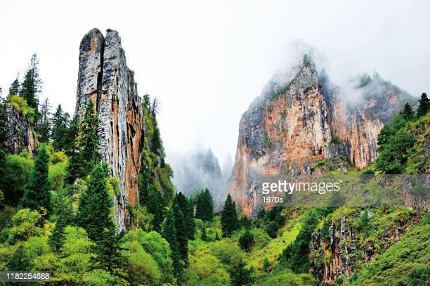 中国・甘粛省ガナンのチベット自治区クル郡のザガナ国立公園。 - 甘粛省 ストックフォトと画像