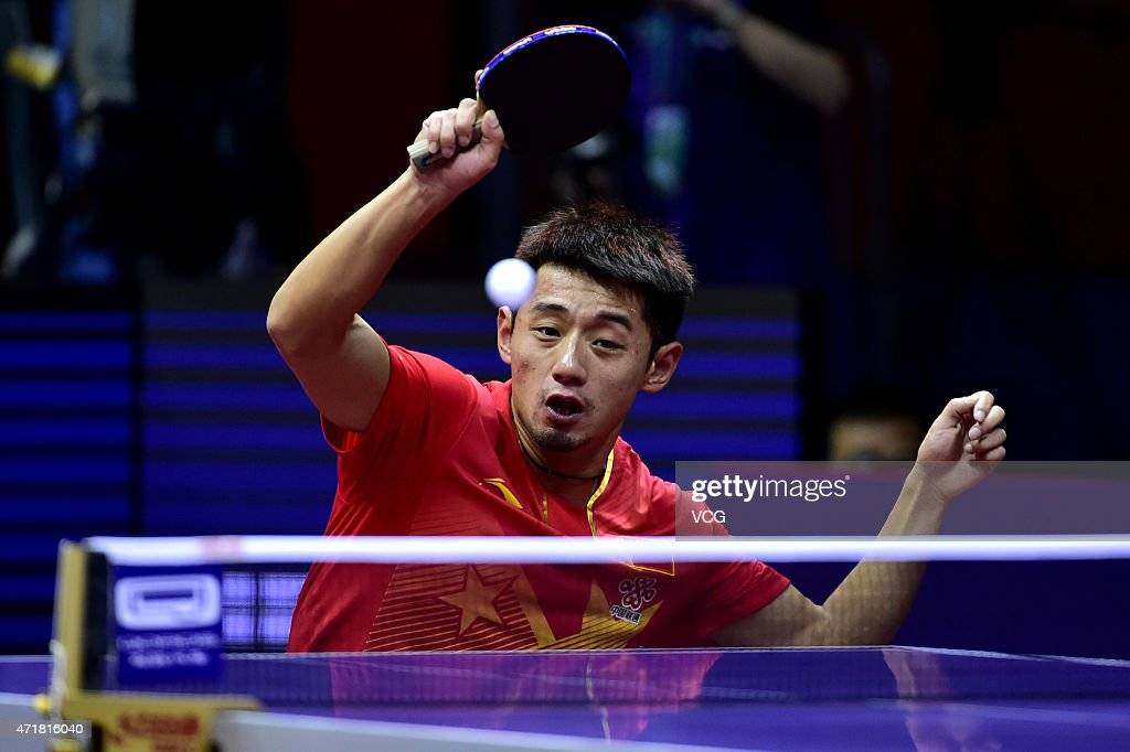 Zhagn jike of china competes against vladimir samsonov of belarus news photo getty images - World table tennis championships ...