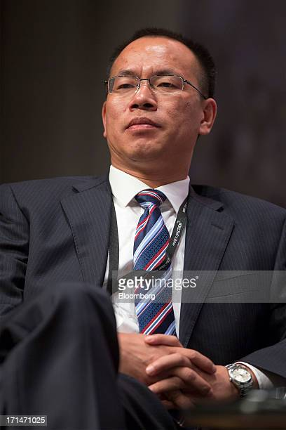 Zhai Baojin deputy party secretary and general manager of Daye Nonferrous Metals Corp Holdings Ltd attends the London Metal Exchange Week Asia 2013...