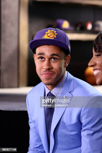 Zhaire Smith talks to the media after being selected sixteenth overall by the Phoenix Suns on June 21 2018 at Barclays Center during the 2018 NBA...