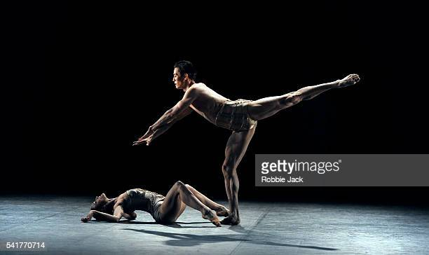 Zhanat Atymatayev and Adela Ramirez in the English National Ballet's production of Jiri Kylian's Petite Mort at the London Coliseum