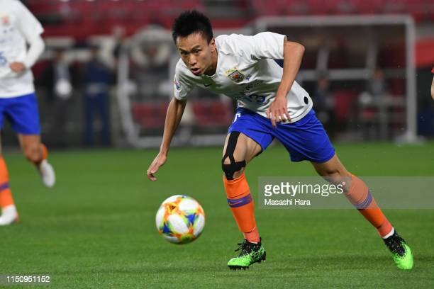 Zhang Chi of Shandong Luneng in action during the AFC Champions League Group E match between Kashima Antlers and Shandong Luneng at Kashima Soccer...