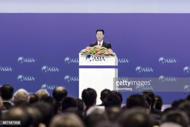 Zhang Gaoli China's vice premier speaks during the opening ceremony of the Boao Forum for Asia Annual Conference 2017 in Boao China on Saturday March...
