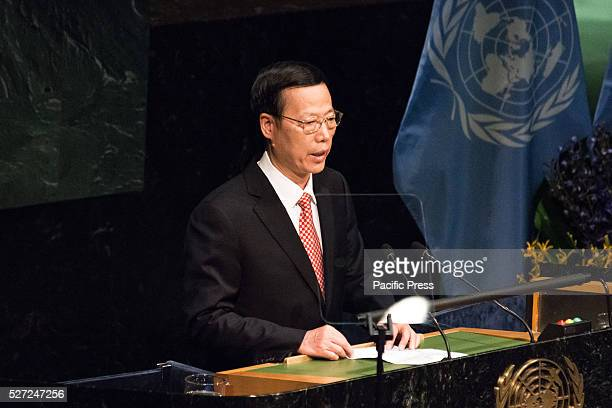Zhang Gaoli Special Envoy of the Chinese President and Vice Premier addresses the General Assembly Leaders from around the world gathered in General...