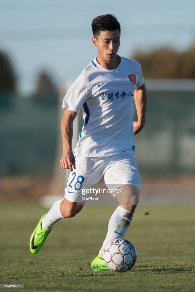 Zhang Hongkui during the friendly match between Royal Charleroi SC vs.Yanbian Funde FC at Pinatar Arena, Murcia, SPAIN. 10th January of 2018.