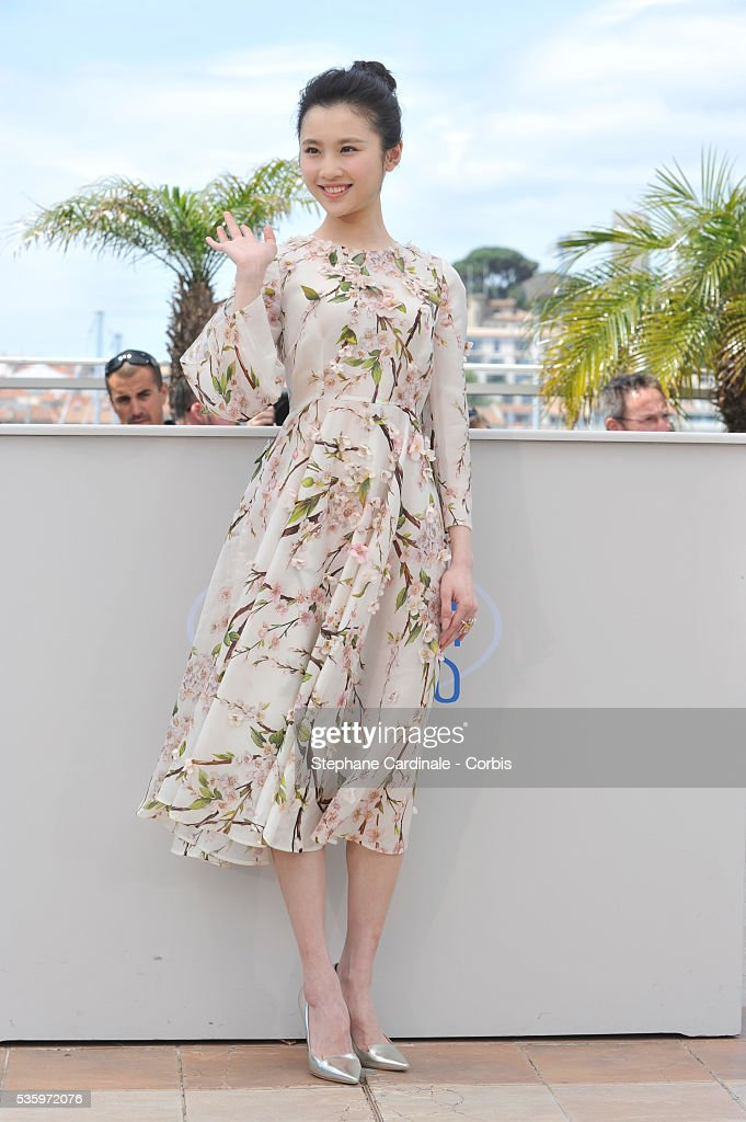 Zhang Huiwen attends the 'Coming Home' photocall during 67th Cannes Film Festival