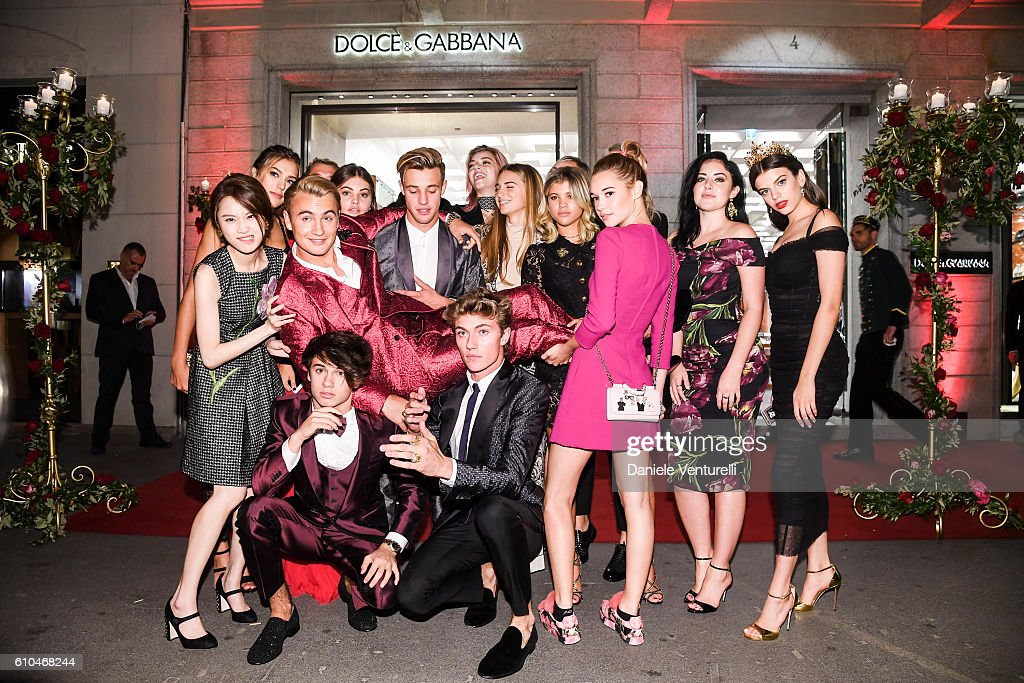 New Dolce&Gabbana Boutique Opening Event - Milan Fashion Week SS17 : News Photo