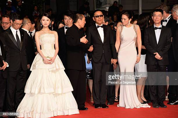 Zhang HuiwenZhang Yimou Gong Li Chen Daoming and Zhang Zhao attend the Gui Lai premiere during the 67th Annual Cannes Film Festival on May 20 2014 in...