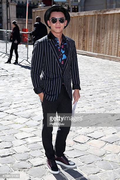 Kai Zheng attends the Lanvin Menswear Spring/Summer 2016 show as part of Paris Fashion Week on June 28 2015 in Paris France