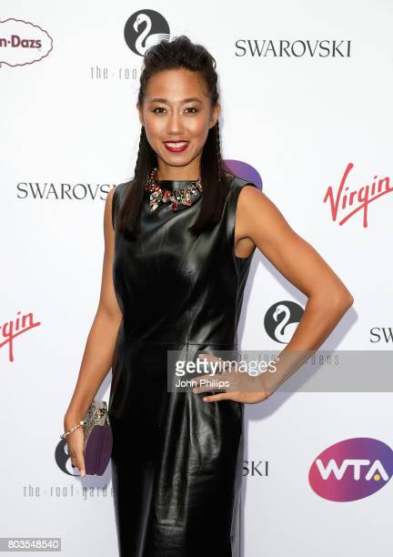 Zhang Shuai attends the annual WTA PreWimbledon Party at The Roof Gardens Kensington on June 29 2017 in London United Kingdom