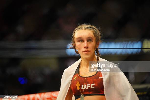 Zhang Weili vs Joanna Jedrzejczyk fighting during the UFC 248 on March 07 at TMobile Arena in Las Vegas NV