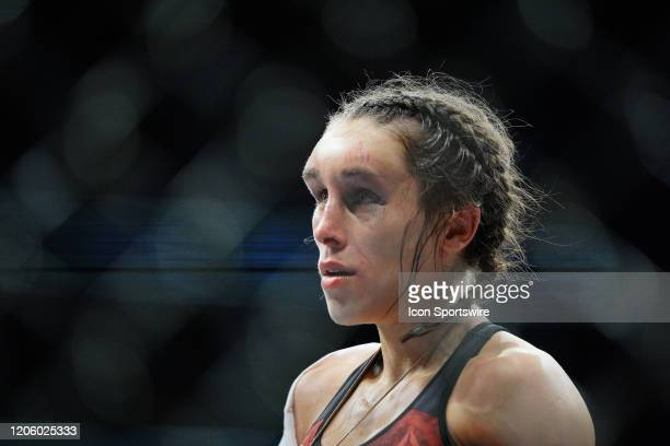 Zhang Weili vs. Joanna Jedrzejczyk fighting during the UFC 248 on March 07 at T-Mobile Arena in Las Vegas, NV.