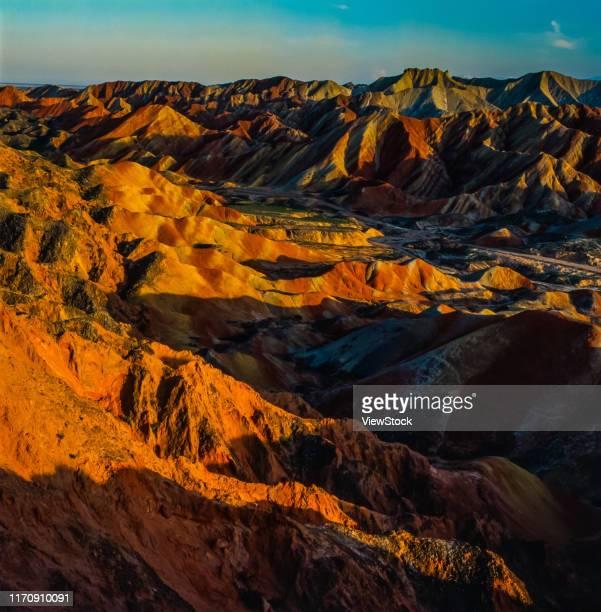 zhang ye danxia landform - 丹霞地形 ストックフォトと画像
