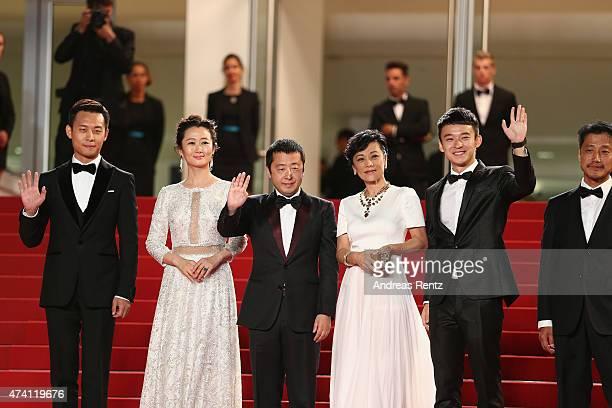 Zhang Yi Zhao Tao director Jia Zhang Ke Sylvia Chang Dong Zijang and Liang Jingdong attend the Premiere of 'Shan He Gu Ran' during the 68th annual...