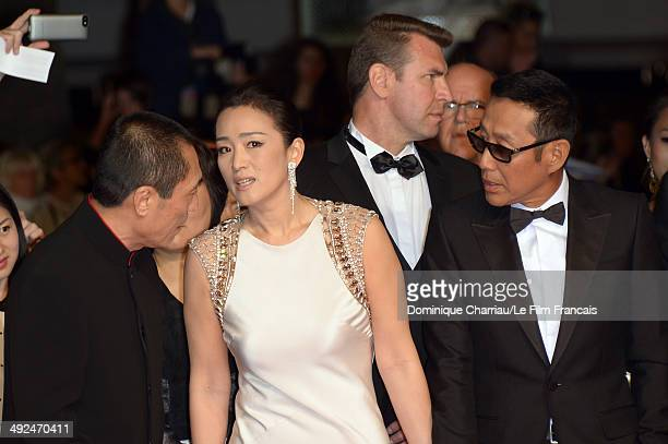 Zhang Yimou Chen Daoming and Li Gong attend the Coming Home Premiere during the 67th Annual Cannes Film Festival on May 20 2014 in Cannes France
