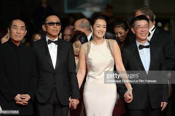 Zhang Yimou Chen Daoming Li Gong and producer Zhao Zhang attend the Coming Home Premiere during the 67th Annual Cannes Film Festival on May 20 2014...