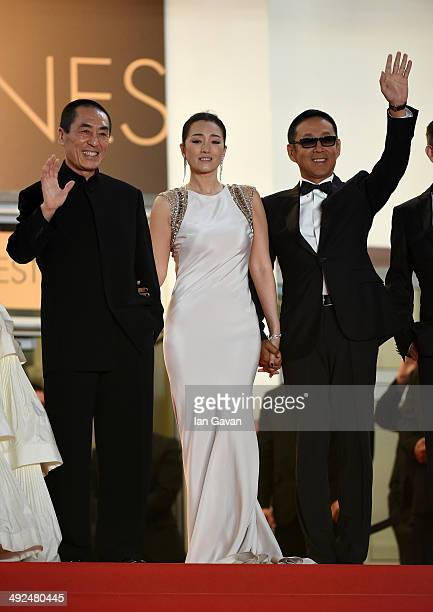 Zhang Yimou Li Gong and Chen Daoming attend the Gui Lai premiere during the 67th Annual Cannes Film Festival on May 20 2014 in Cannes France