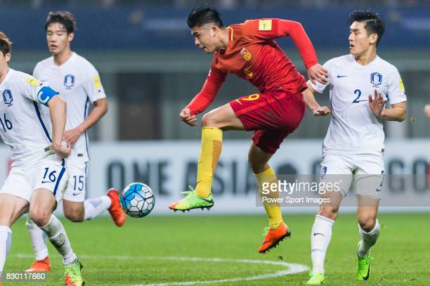 Zhang Yuning of China PR in action during their 2018 FIFA World Cup Russia Final Qualification Round Group A match between China PR and Korea...