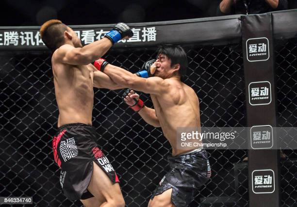 Zhang Ze Hao and Li Cheng Chao put on an incredible show during ONE Championship Shanghai at the Shanghai Oriental Sports Center on September 02 2017...