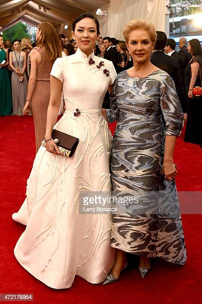 Zhang Ziyi and Carolina Herrera attend the 'China Through The Looking Glass' Costume Institute Benefit Gala at the Metropolitan Museum of Art on May...