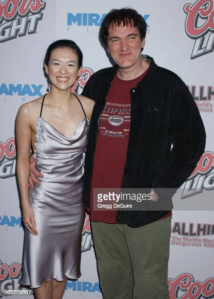 Zhang Ziyi and Quentin Tarantino during 'Hero' Los Angeles Premiere Arrivals at Arclight Theatre in Hollywood California United States