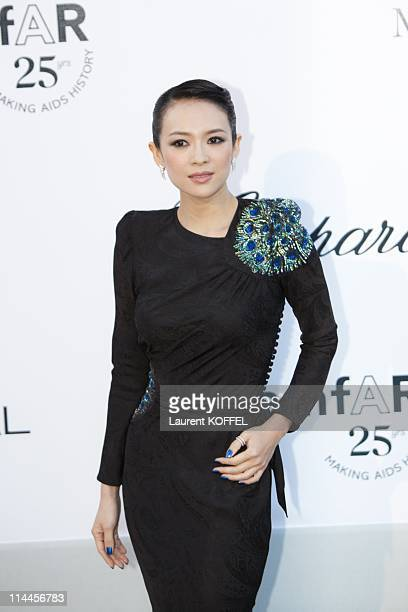 Zhang Ziyi attends amfAR's Cinema Against AIDS Gala during the 64th Annual Cannes Film Festival at Hotel Du Cap on May 19 2011 in Antibes France