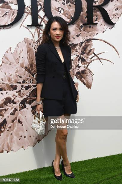 Zhang Ziyi attends the Christian Dior Haute Couture Fall/Winter 20172018 show as part of Haute Couture Paris Fashion Week on July 3 2017 in Paris...