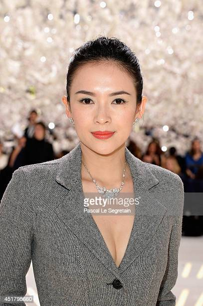 Zhang Ziyi attends the Christian Dior show as part of Paris Fashion Week Haute Couture Fall/Winter 20142015 on July 7 2014 in Paris France