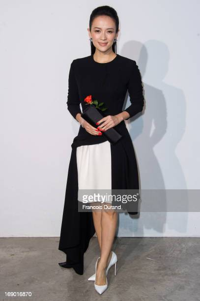 Zhang Ziyi attends the Dior Cruise Collection 2014 on May 18 2013 in Monaco Monaco
