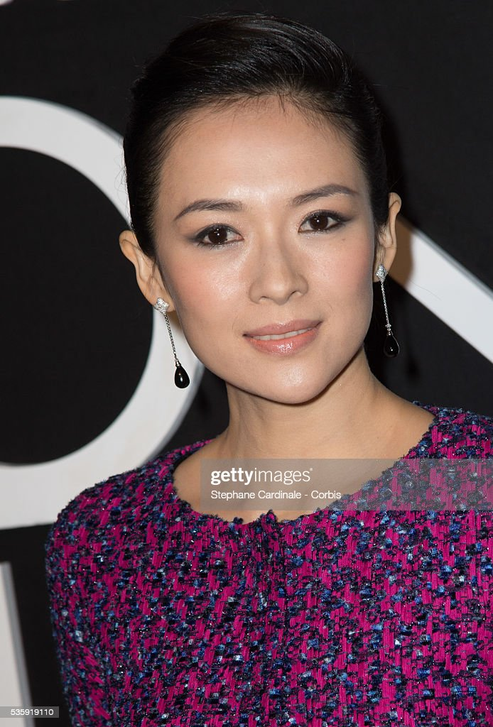 Zhang Ziyi attends the Giorgio Armani Prive show as part of Paris Fashion Week Haute Couture Spring/Summer 2014, at Palais de tokyo in Paris.