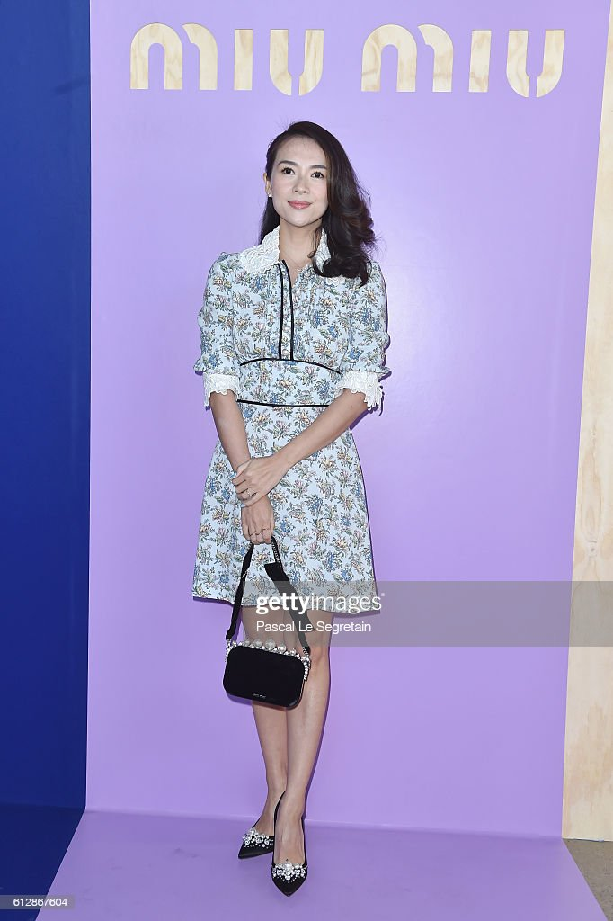Zhang Ziyi attends the Miu Miu show as part of the Paris Fashion Week Womenswear Spring/Summer 2017 on October 5, 2016 in Paris, France.