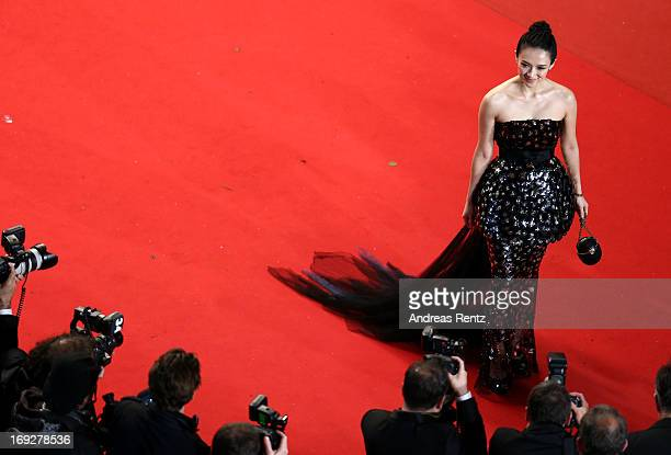 Zhang Ziyi attends the 'Only God Forgives' Premiere during the 66th Annual Cannes Film Festival at Palais des Festivals on May 22 2013 in Cannes...