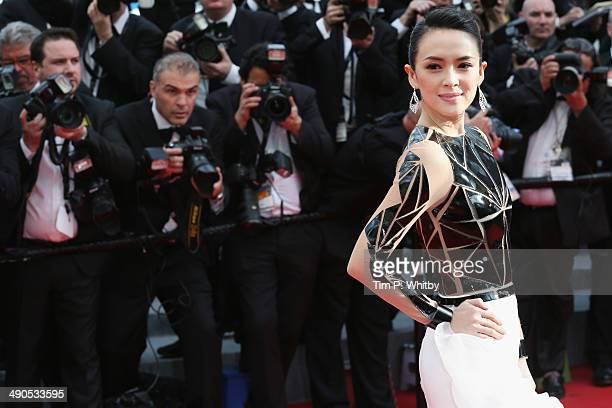 Zhang Ziyi attends the Opening Ceremony and the 'Grace of Monaco' premiere during the 67th Annual Cannes Film Festival on May 14 2014 in Cannes France