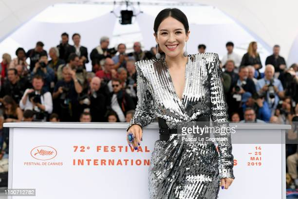 Zhang Ziyi attends the photocall for Rendez Vous With Zhang Ziyi during the 72nd annual Cannes Film Festival on May 21 2019 in Cannes France