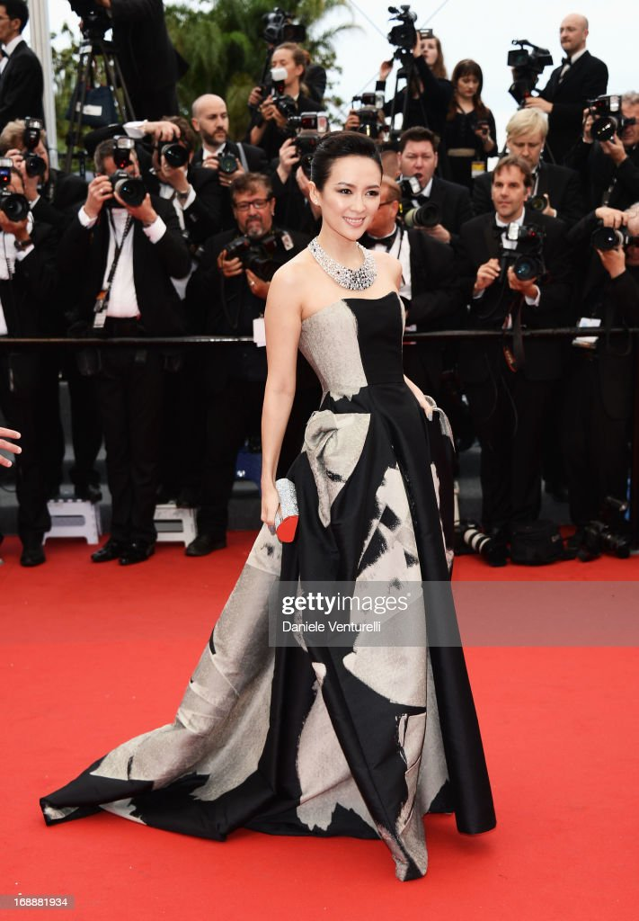 Zhang Ziyi attends the Premiere of 'The Bling Ring' at The 66th Annual Cannes Film Festival at Palais des Festivals on May 16, 2013 in Cannes, France.