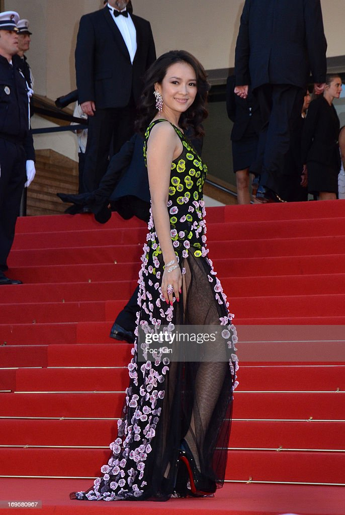 Zhang Ziyi attends the Premiere of 'Zulu' and the Closing Ceremony of The 66th Annual Cannes Film Festival at Palais des Festivals on May 26, 2013 in Cannes, France.