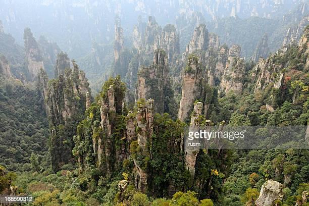 zhangjiajie, china - pandora peaks stock photos and pictures
