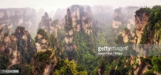 zhangjiajie pandora - pandora peaks stock photos and pictures