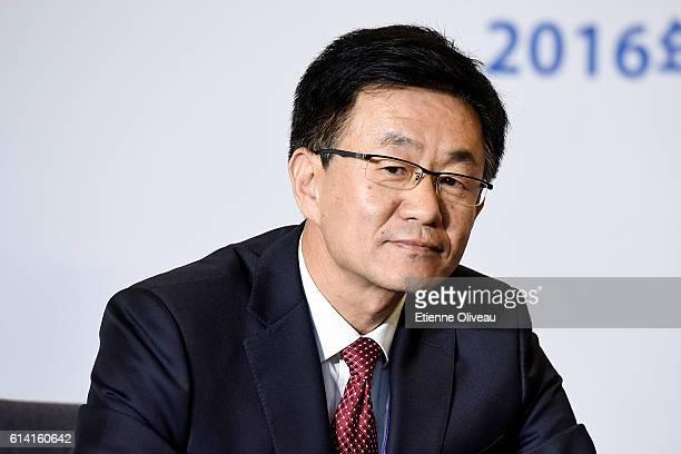 Zhangjiakou Operation Center Director and Zhangjiakou Mayor Ma Yujun attends the 1st Meeting of the IOC Coordination Commission of the XXIV Olympic...