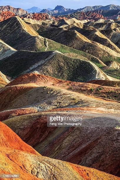 zhangye danxia landform geopark - ジオパーク ストックフォトと画像
