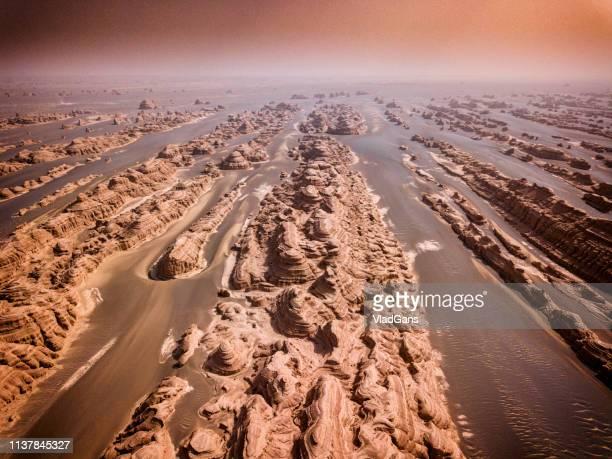 張掖レインボー山地 - 丹霞地形 ストックフォトと画像