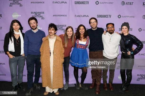 Zhannat Alshanova Georgi M Unkovski Mesh Aljaser Jessie Kahnweiler Jay Dockendorf Ankit Poudel and Ashley WIlliams attend the 2020 Sundance Film...