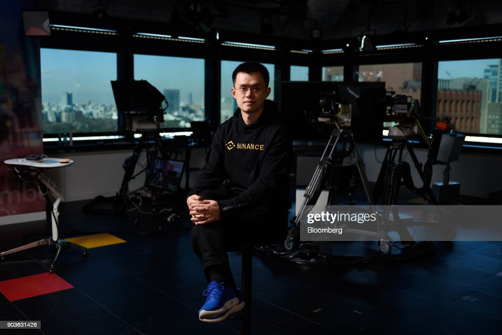 Binance Chief Executive Officer Zhao Changpeng Interview : News Photo