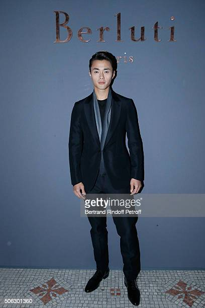 Zhao Lei attends the Berluti Menswear Fall/Winter 20162017 show as part of Paris Fashion Week on January 22 2016 in Paris France