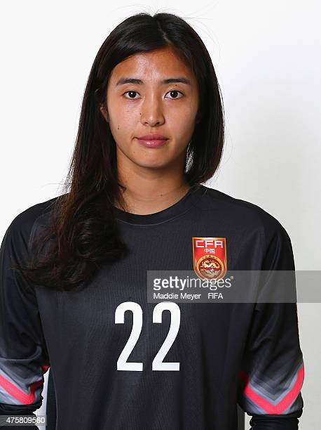 Zhao Lina of China during the FIFA Women's World Cup 2015 portrait session at the Delta Edmonton South on June 3 2015 in Edmonton Canada