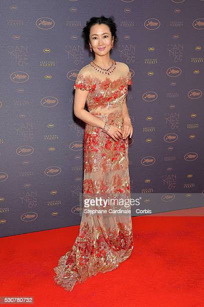 Zhao Tao arrives at the Opening Gala Dinner during The 69th Annual Cannes Film Festival on May 11 2016 in Cannes France