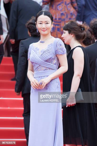 Zhao Tao attends the 'Slack Bay ' premiere during the 69th annual Cannes Film Festival at the Palais des Festivals on May 13 2016 in Cannes France